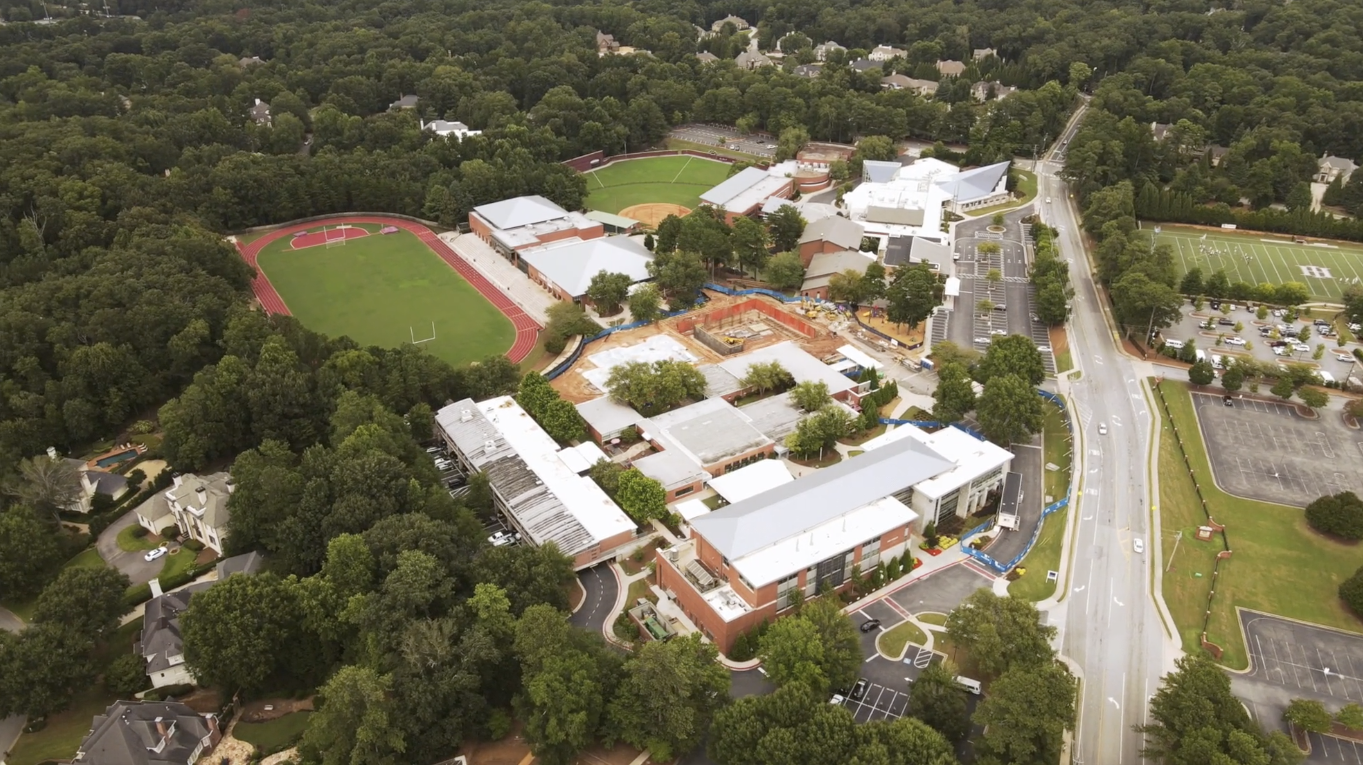Aerial Photo of HIES Campus